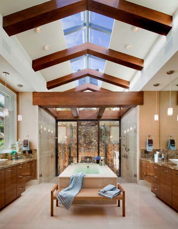 потолок в частном доме картинки и фото одной стороны