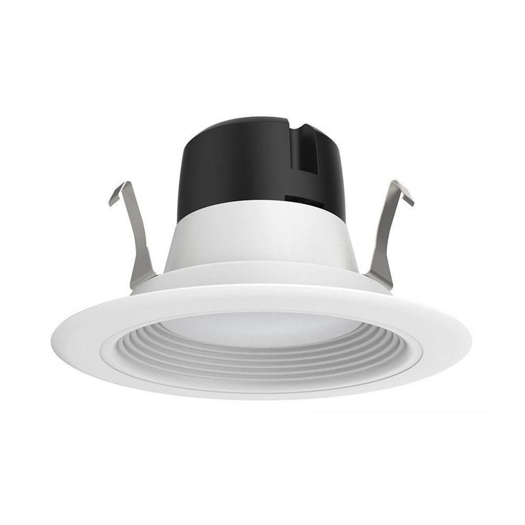 EnviroLite 4 in. LED Recessed Ceiling Light with White Baffle Trim, 5000K, 93 CRI (