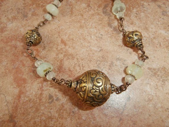 Hey, I found this really awesome Etsy listing at https://www.etsy.com/listing/184774849/ethnic-antique-brass-prehnite-choker