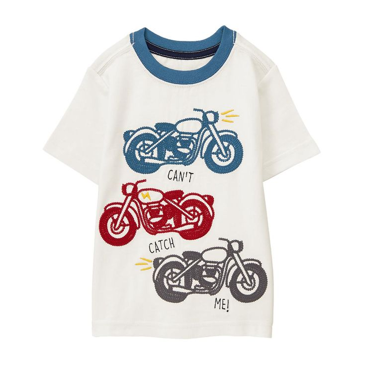 Toddler Boy Ivory Catch Me Tee by Gymboree