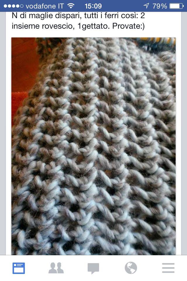 Punto maglia x sciarpa