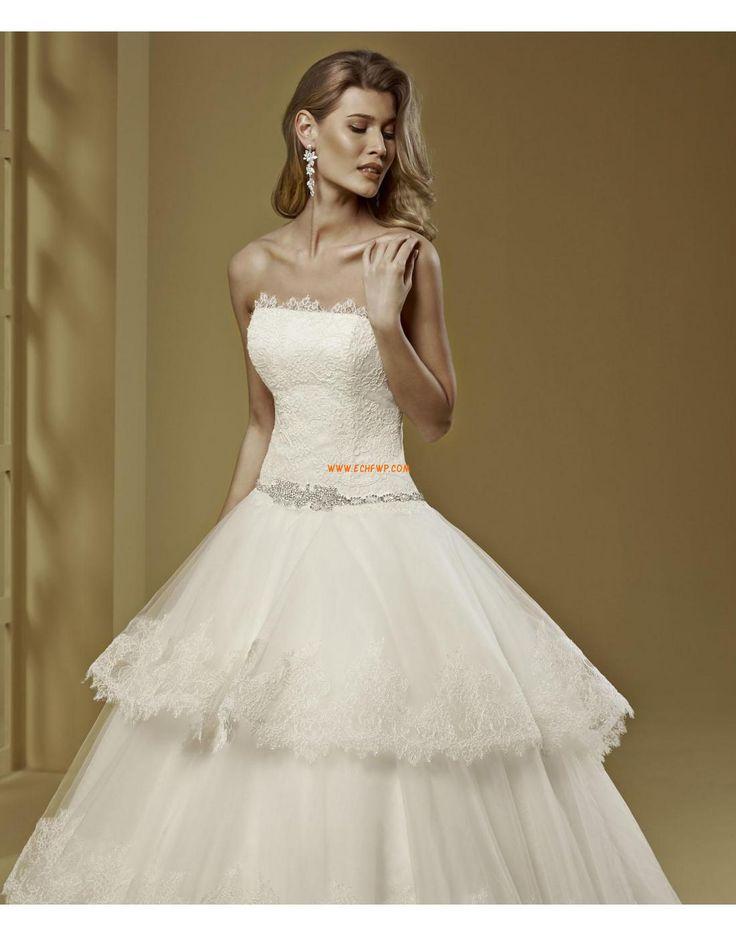A-line Organza Zip Robes de mariée 2015