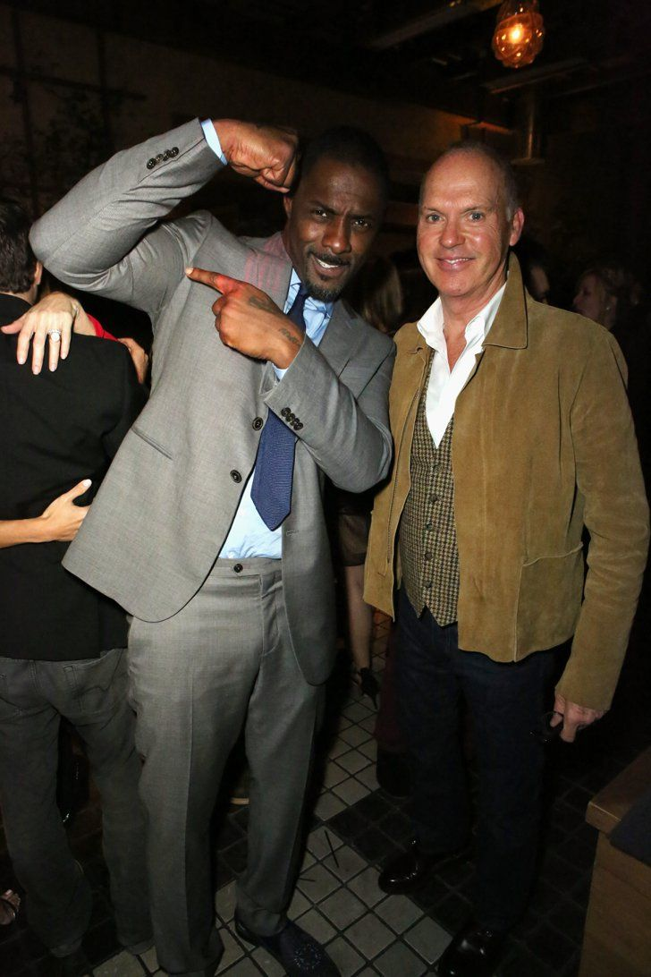 Pin for Later: Everyone Wants a Piece of Idris Elba With Michael Keaton