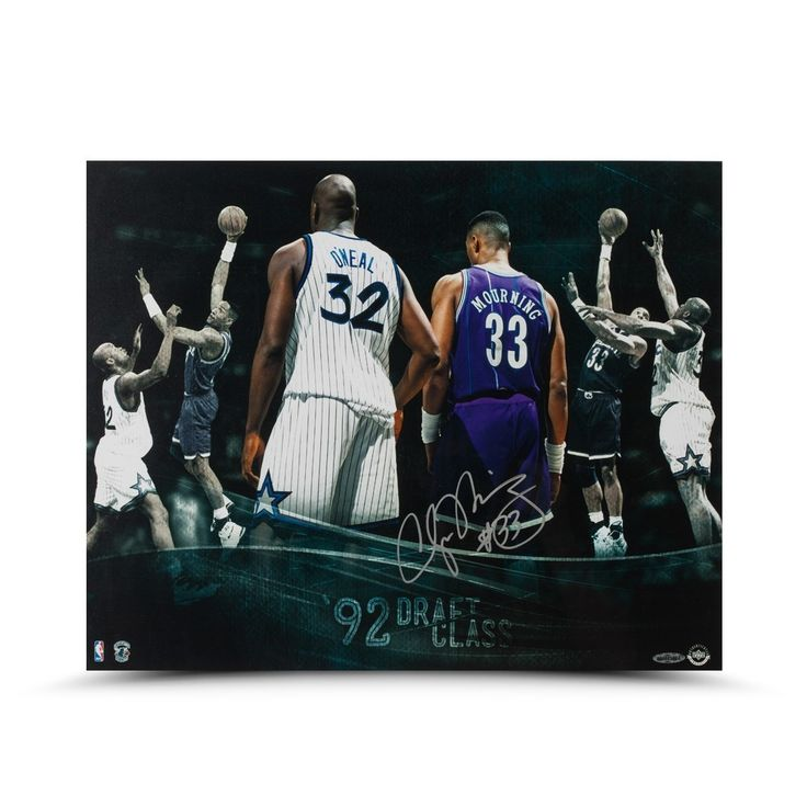 """ALONZO MOURNING Autographed """"Draft Class"""" 16 X 20 Photo UDA LE 33 - Game Day Legends"""