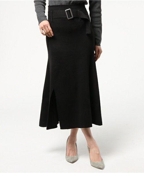 WAIST BELT FLARE KNIT SKIRT(スカート)|MOUSSY(マウジー)のファッション通販 - ZOZOTOWN