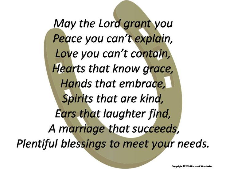 25 Best Ideas About Irish Wedding Blessing On Pinterest