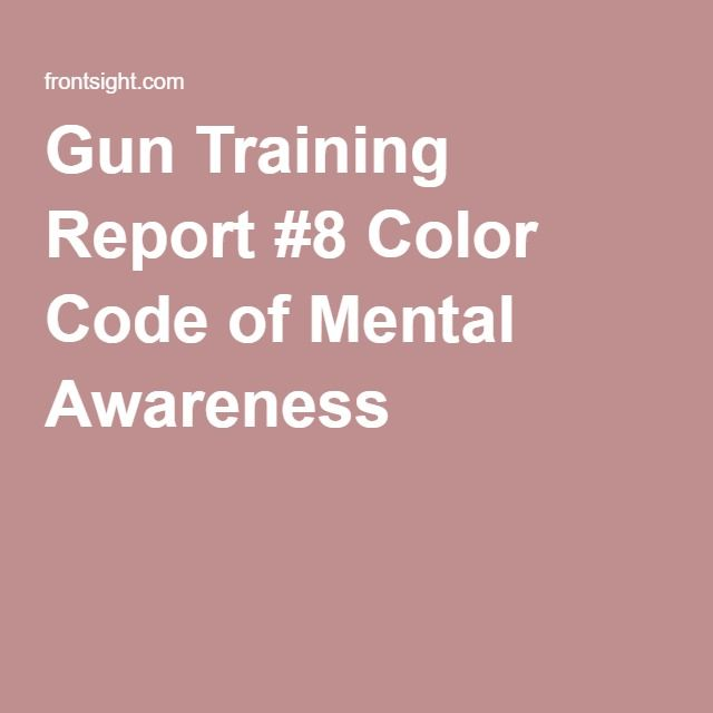 Gun Training Report #8 Color Code of Mental Awareness 2nd - training report