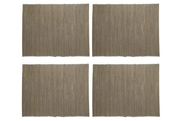 TAG Grey Placemats (Set of 4) by Ashley HomeStore, Gray
