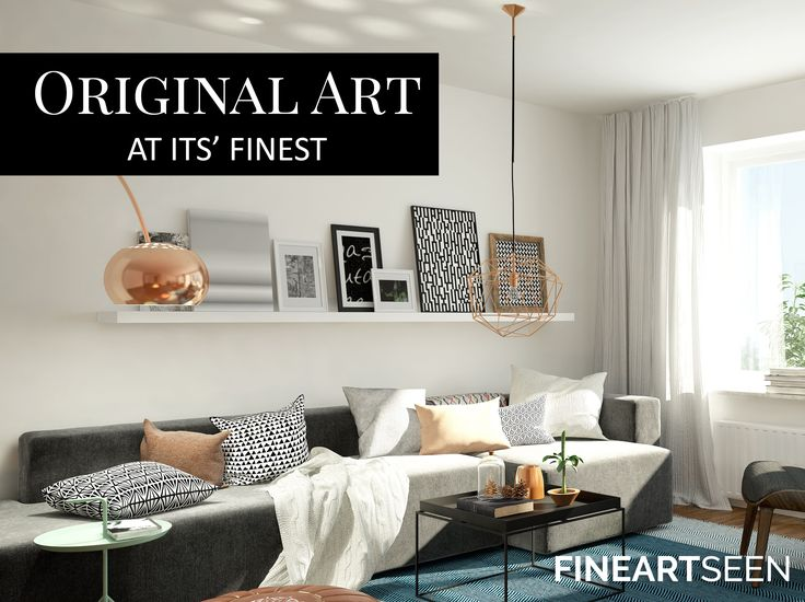 Affordable Art At It's Finest. Find inspiration for your home decor and interiors and discover a stunning collection of original art, hand-picked from 500 talented artists around the world. Enjoy Free Delivery with every order, only on FineArtSeen - The Premier Destination For Original Art From The World's Most Talented Artists. << Pin For Later >>