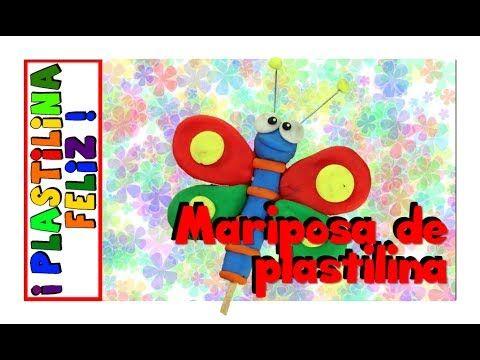 Mariposa en plastilina, mariposa de plastilina, cómo hacer una mariposa en plastilina