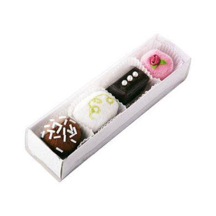 HABA Biofino Kaufladen Petit Fours 4er Set 3807 bei baby-markt.ch - Ab 80 CHF versandkostenfrei ✓ Schnelle Lieferung ✓ Jetzt bequem online kaufen!