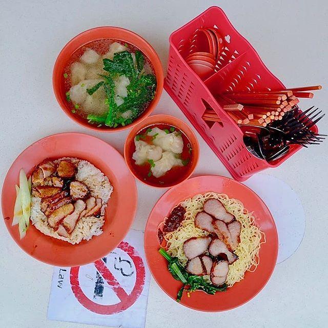 Wanton Noodles And Char Siew Rice At Foong Kee Coffee Shop At Keong Saik Road Sgeats Sgfood Foongkee Foongkeecoffeeshop Wa Coffee Shop Sugar Cookie Eat