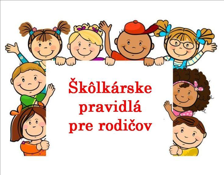 Naše škôlkárske pravidlá pre rodičov – MŠ Lipová, Spišská Nová Ves