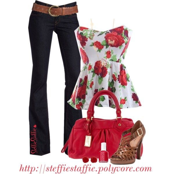 """Rose Peplum"" by steffiestaffie on Polyvore"