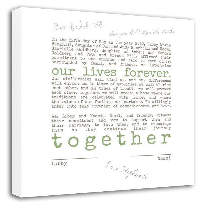 Guest Book Alternative Canvas