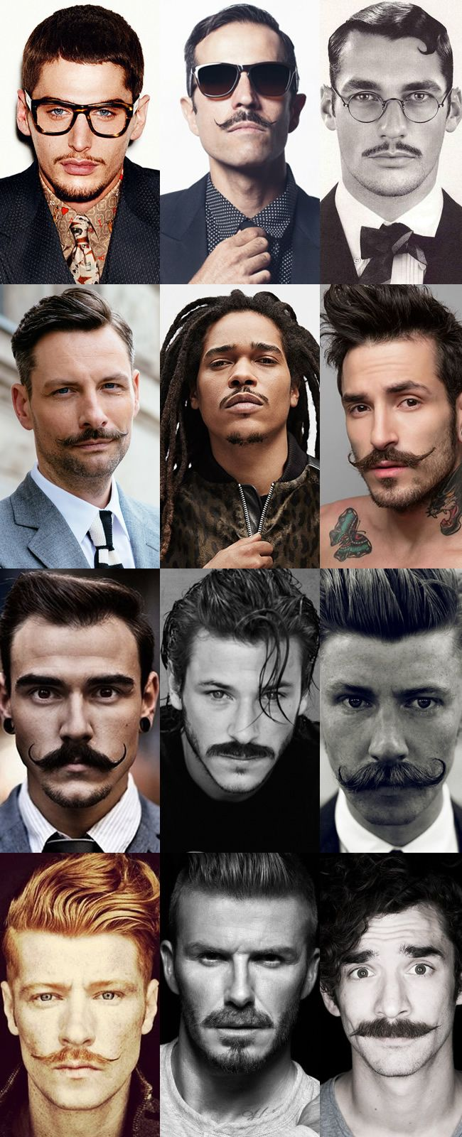 Collection of Moustaches: This is extremely helpful as it's a collection of different styles, colours and sizes in one image.