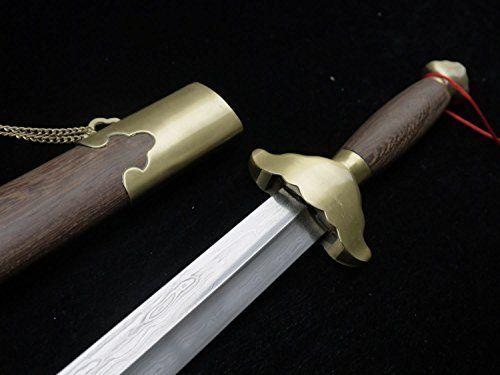 Tai ji jian/Damascus steel blade/Rosewood scabbard/Training Sword/Favorite Gifts longquan sword http://www.amazon.com/dp/B00PDUXEZU/ref=cm_sw_r_pi_dp_P6Ixub0BFT63K