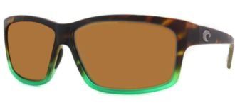 Costa Del Mar Sunglasses - Cut- Glass / Frame: Matte Tortuga Fade Lens: Polarized Amber 580P Polycarbonate