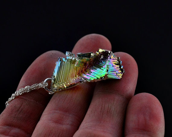 Bend in the Stairs Iridescent Bismuth Metal Crystal door Element83, $29.95
