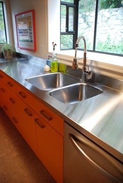Stainless Steel Countertops - Kitchen Design Ideas, Pictures, Remodeling and Decor