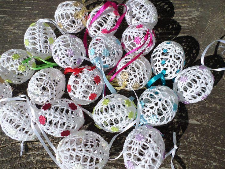 háčkované vajíčka