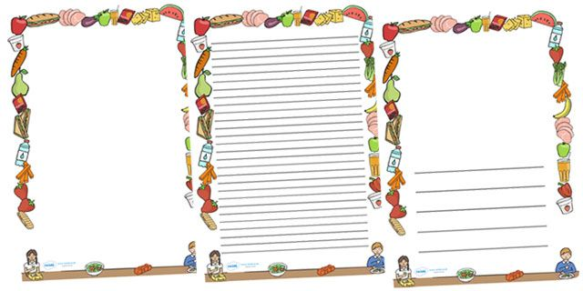 Healthy Eating Page Borders - | Bugs for kids | Pinterest ...