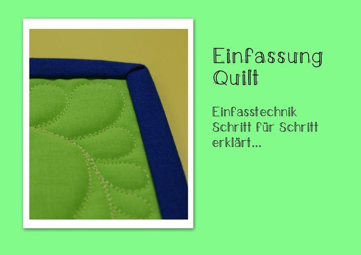 SCHNIG SCHNAG - Quilts and more: Binding Tutorial - oder wie mache ich eine schöne ...