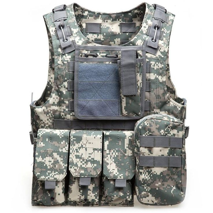 [Visit to Buy] 6 Colors Mens Tactical Vest Military 600D Oxford Swat Vest Field Battle Airsoft Molle Combat Assault Plate Carrier Hunting Vest #Advertisement