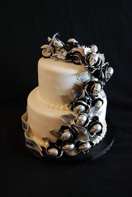 harley wedding cakes | Harley Themed Wedding Cake | Flickr - Photo Sharing!