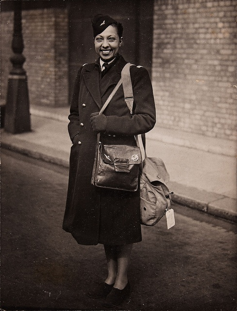 Josephine Baker in the uniform of the Women's Auxiliary of the Free French Air…
