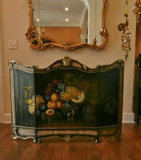 french fireplace screens. Stunning vintage painted french country fireplace screen fruit grapes  acanthus 40 best Fireplace Screens images on Pinterest screens