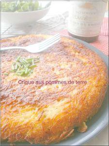 Crique aux pommes de terre lyonnaise | Tentations sucrées mais pas que...