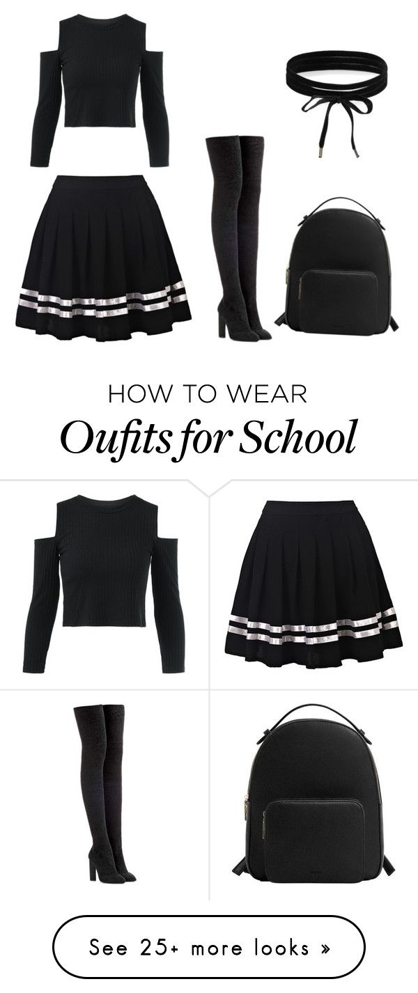 """school girl outfit"" by dianareynoso-love on Polyvore featuring adidas Originals, Boohoo and MANGO"