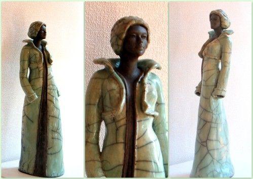 mes dernières sculptures raku, faites en cuisson raku à LA PORTE DU SOLEIL à Fontenay les Briis elles mesurent entre 39 et 42 cm Les sculptures présentées sont des pièces uniques. Elles sont cuites selon la technique japonaise du Raku. Qui veut dire :...