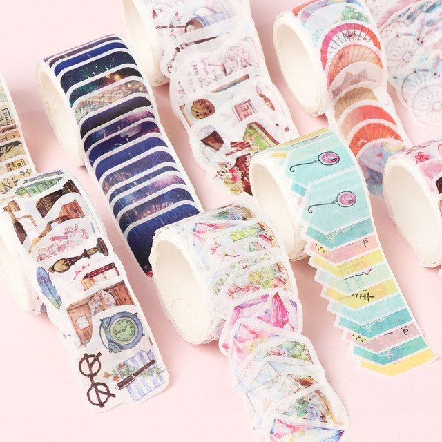 80x//Roll Scrapbooking Paper Sticker Masking Tape Decorative DIY Cards Making