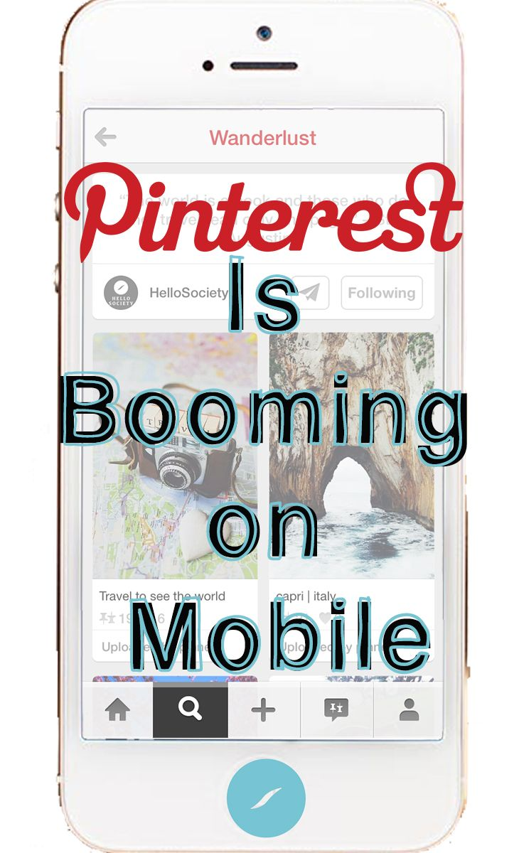 #Pinterest is Booming on Mobile | via #BornToBeSocial - Pinterest Marketing