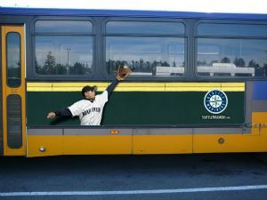 #OOH #baseball #bus #advertising #Seattle #Mariner