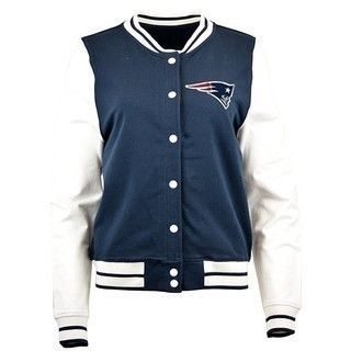 The Official Patriots ProShop Mobile | Junior Ladies Cheer Jacket-Navy/White