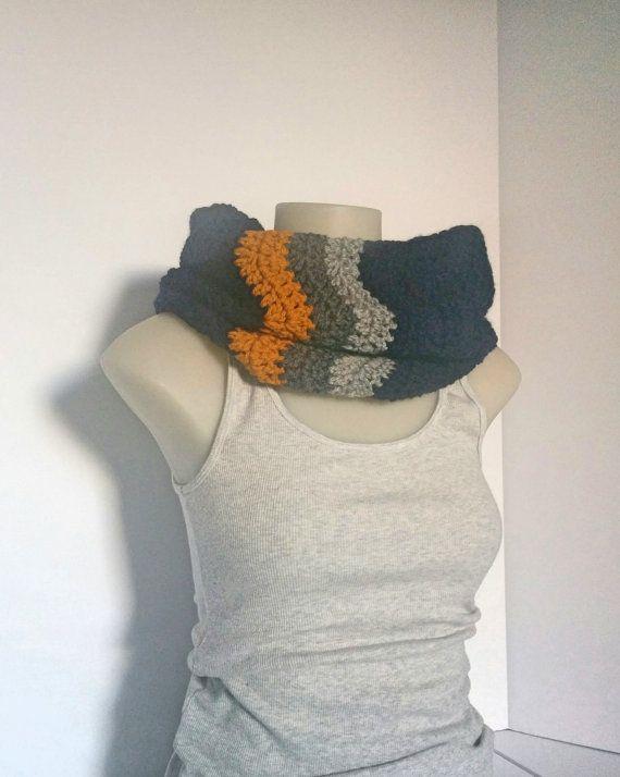 Navy Chevron Cowl Crochet Navy Blue Infinity by TillysCozyHooks #chevroncowl#cozycowl#infinitycowl #infinityscarf#chevronprint#winterstyle #ladiesfashion#ladiesstyle#winterfashion #winterstyle#womensfashion#womensstyle #crochetcowl#knittedcowl#winteraccessories #fallfashion#fallstyle#autumnstyle #autumnfashion