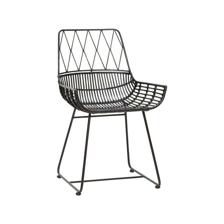 Black rattan chair. Product number: 110302 - Designed by Hübsch