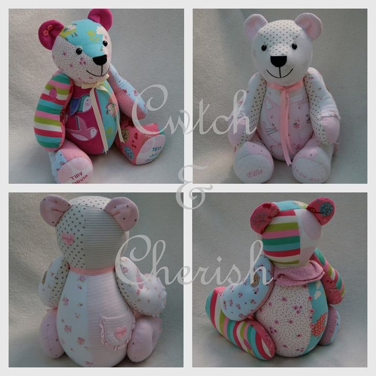 memory teddy bears made from baby clothes
