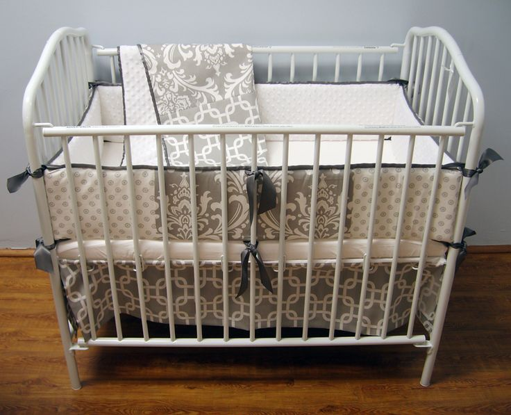 Lots Of Patterns In Gray And White Make This A Playful Yet Modern Bedding  Set. Portable CribCrib ...