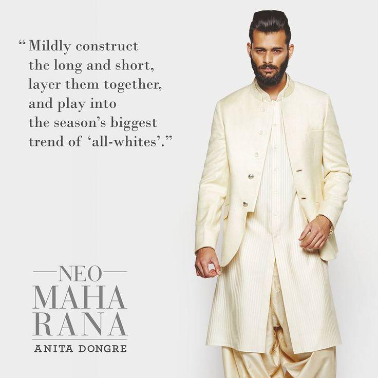 #StyleTip of the day. #AnitaDongre #Menswear #NeoMaharana