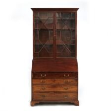 1650/184 - A George III mahogany secretary bookcase. England, c. 1780. H. 223 cm. W. 108 cm. D. 57 cm.