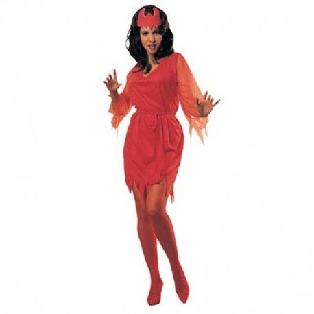 Disfraces Halloween mujer | Disfraz de diablesa. Contiene vestido, cinturon y diadema para la cabeza.Talla M. 14,95€ #diabla #diablesa #disfrazdiablesa #disfraz #halloween #disfrazhalloween #disfraces