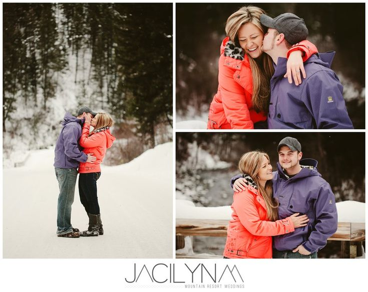 Caty + Andy | Missoula MT Mountain Winter Engagement Photography « Missoula Wedding Photographer Jacilyn M