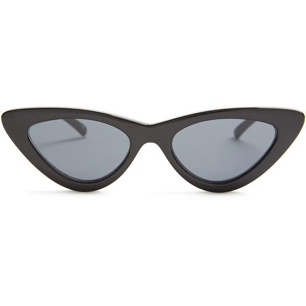 Le Specs The Last Lolita cat-eye sunglasses ($77) ❤ liked on Polyvore featuring accessories, eyewear, sunglasses, cat-eye glasses, cat eye sunnies, acetate glasses, cat eye sunglasses and acetate sunglasses