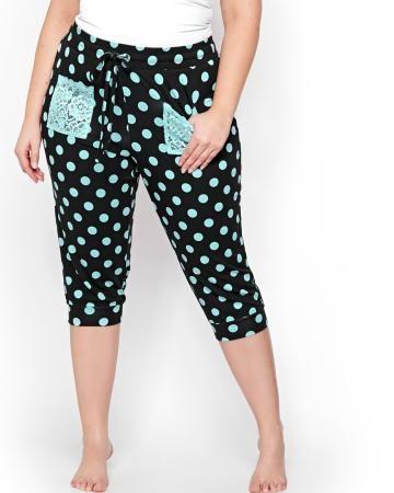 Legging de pyjama capri à pois - Collection Déesse