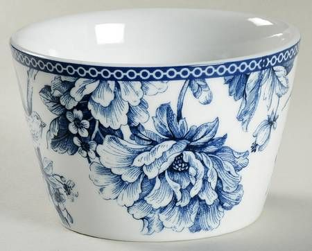 222 Fifth (PTS) Adelaide Blue and White Individual Appetizer Bowl