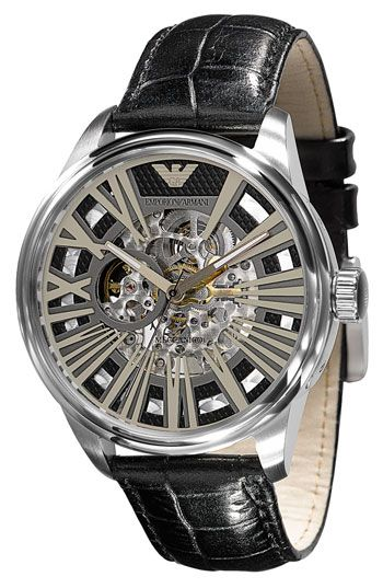 Emporio Armani Automatic Leather Strap Watch - from Nordstrom's.  $395.  almost affordable dream watch.